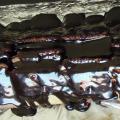 Čokoládová poleva na střeše z BEBE sušenek