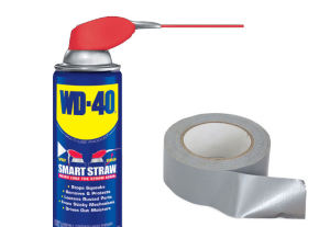 WD 40 a Duck tape